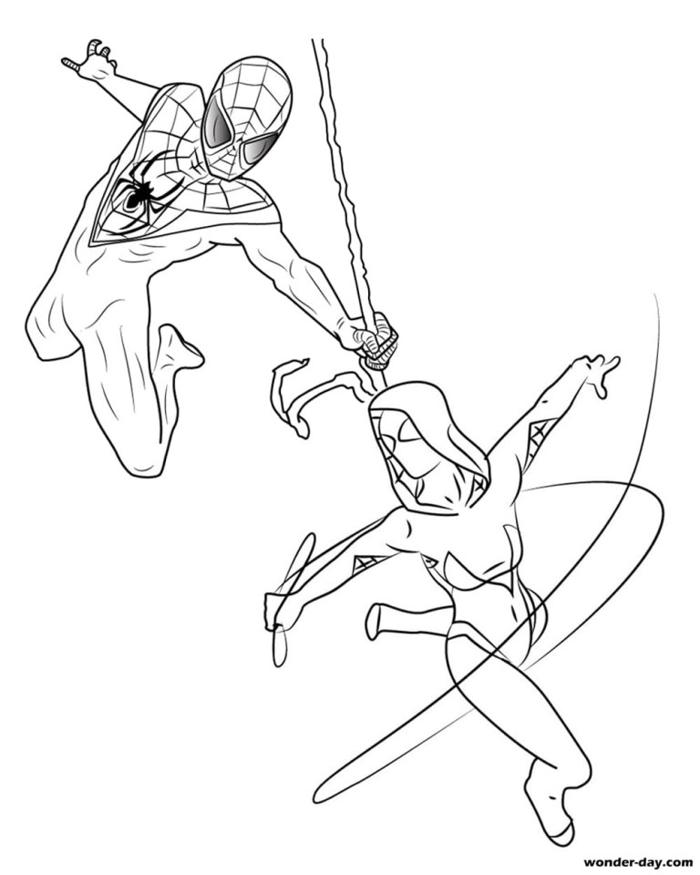 Miles Morales Coloring Pages