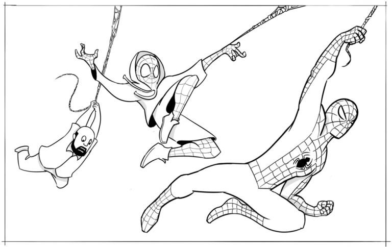 Miles Morales Spiderman Coloring Page