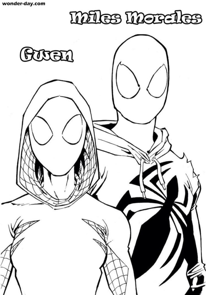 Miles Spiderman Coloring Pages