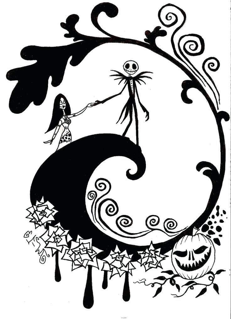 Nightmare Before Christmas Jack Coloring Pages