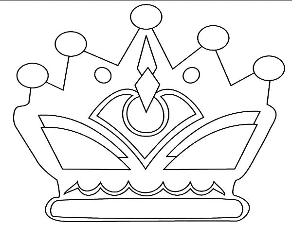Pictures Of Crowns To Color