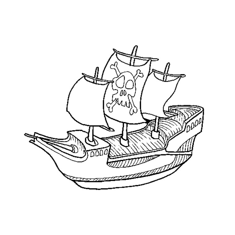 Pirate Ship Coloring Sheets