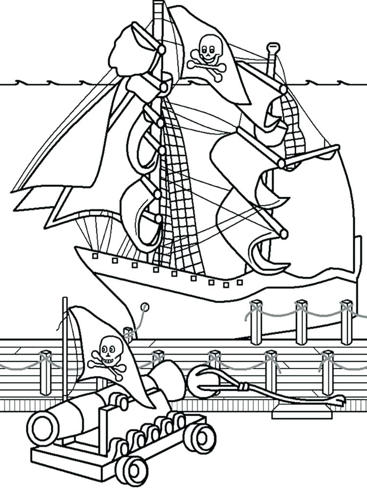 Pirate Ships Coloring Pages