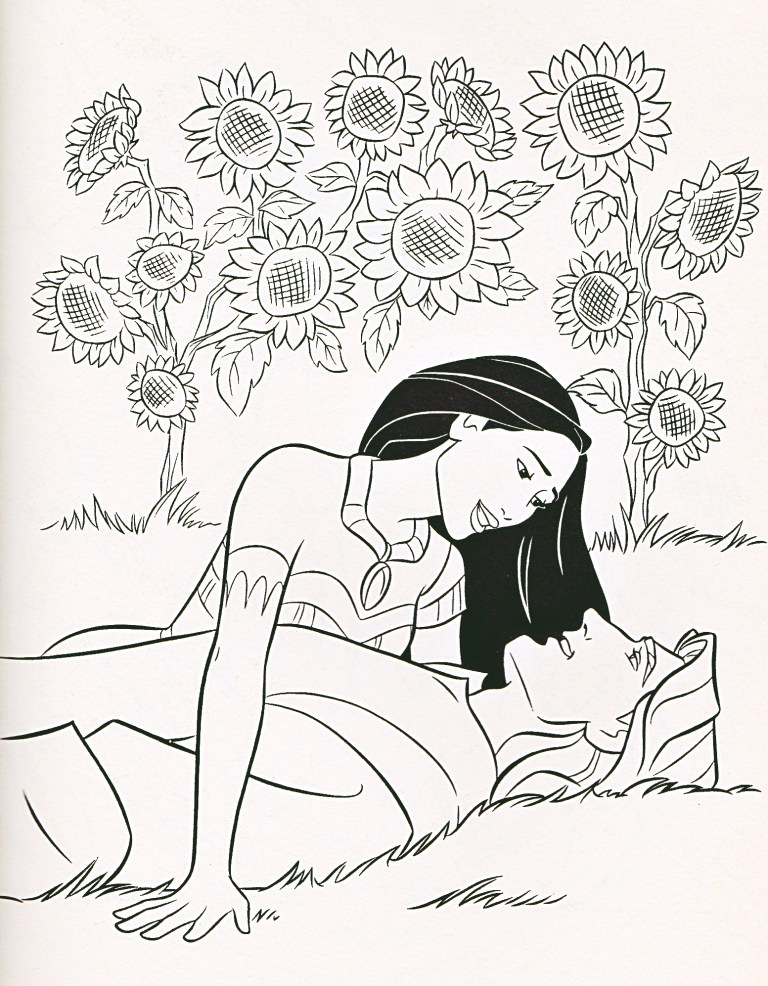 Pocahontas Coloring Page