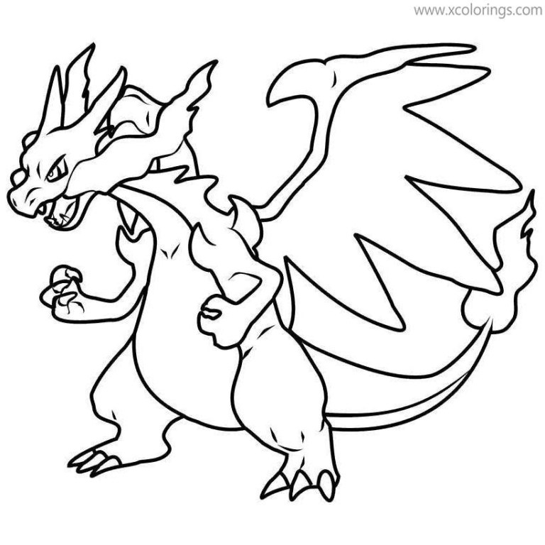Pokemon Coloring Pages Mega Charizard Ex