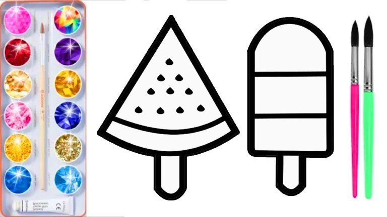 Popsicle Template Printable