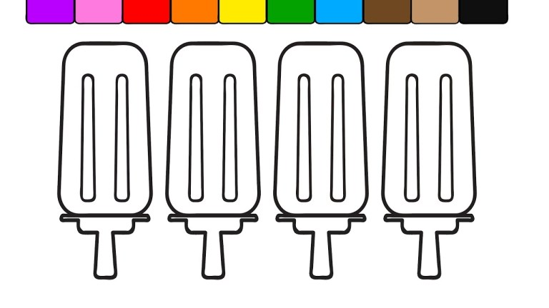 Popsicles To Color