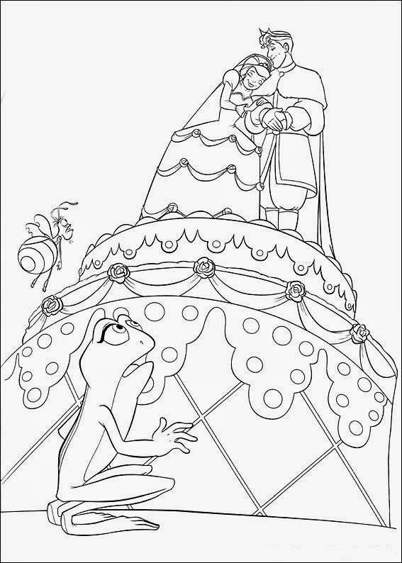 Princess And The Frog Coloring Book