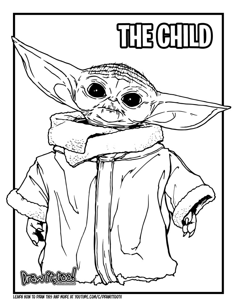 Printable Baby Yoda Pictures