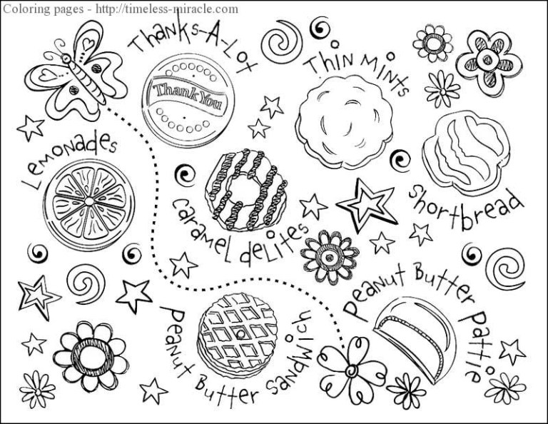 Printable Cookie Coloring Pages