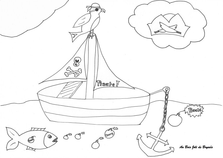 Printable Pirate Ship Coloring Pages