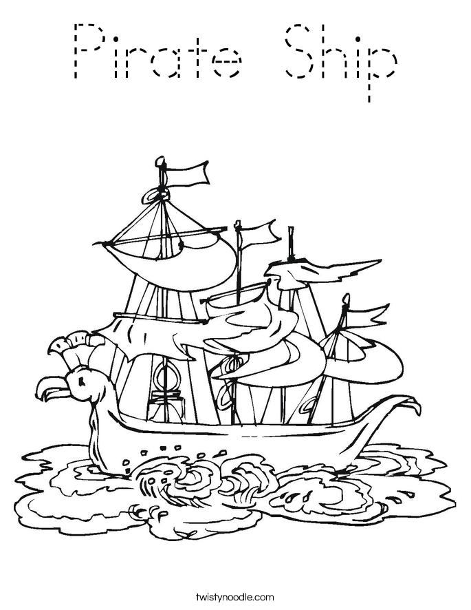 Printable Pirate Ship