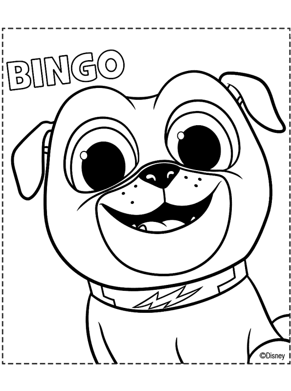 Printable Puppy Dog Pals Coloring Pages