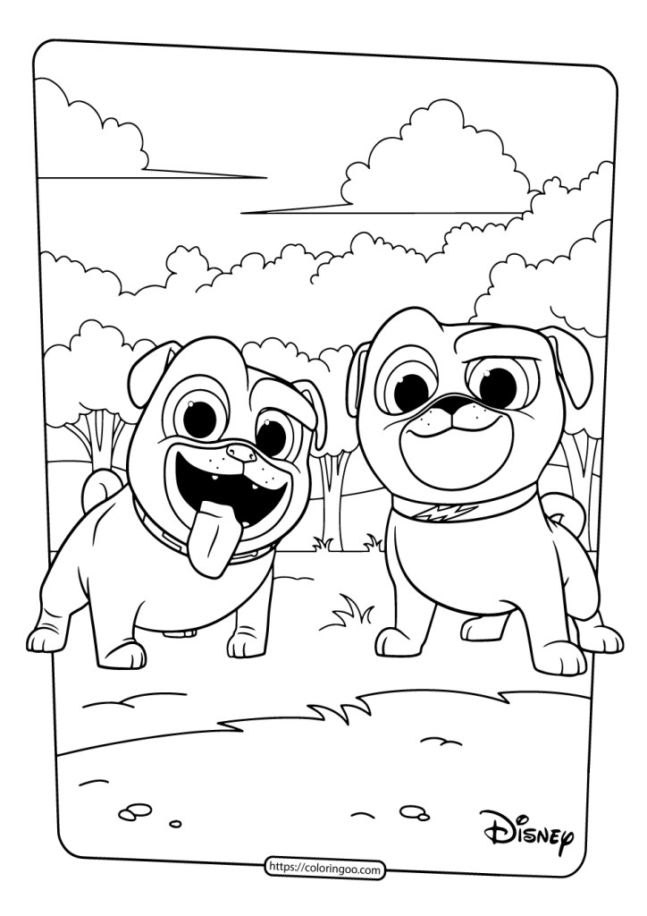 Puppy Dog Pals Coloring
