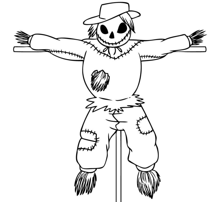 Scarecrow To Color