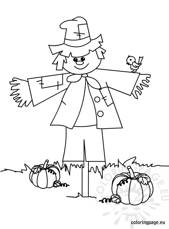 Scarecrows To Color