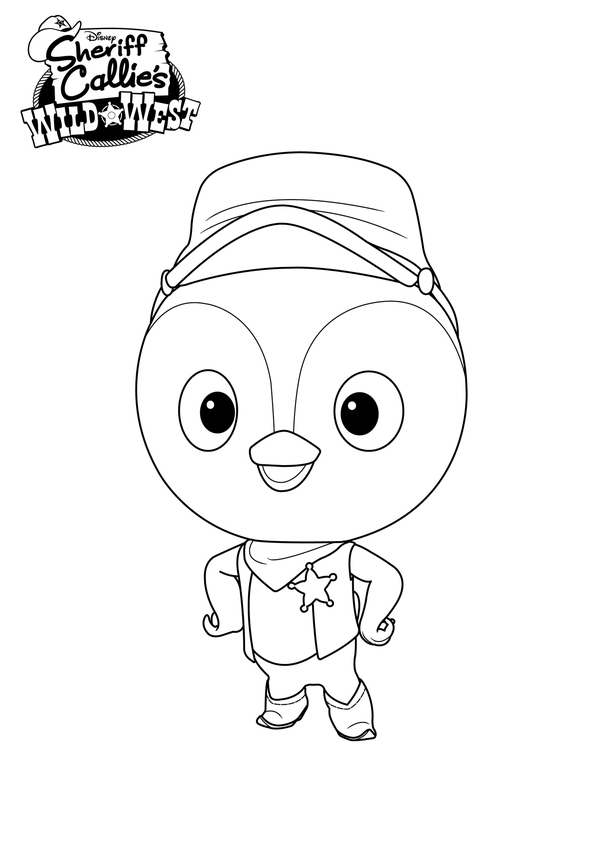 Sheriff Callie Printable Coloring Pages