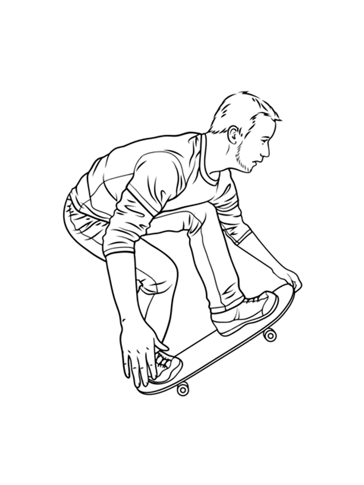 Skate Coloring Pages