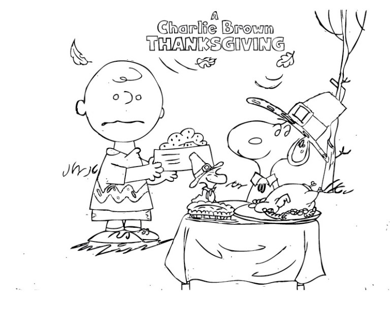 Snoopy Thanksgiving Coloring Pages