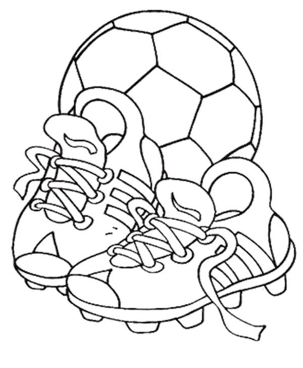 soccer ball colouring page for Kids