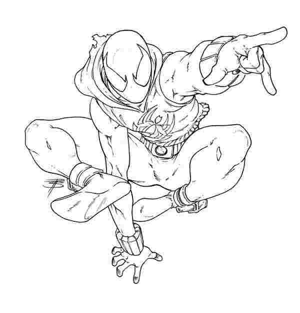 Spiderman Pics To Color