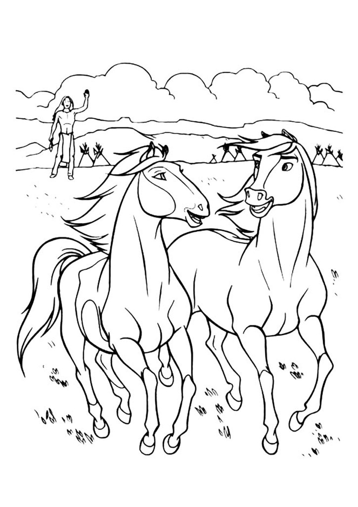 Spirit And Lucky Coloring Pages