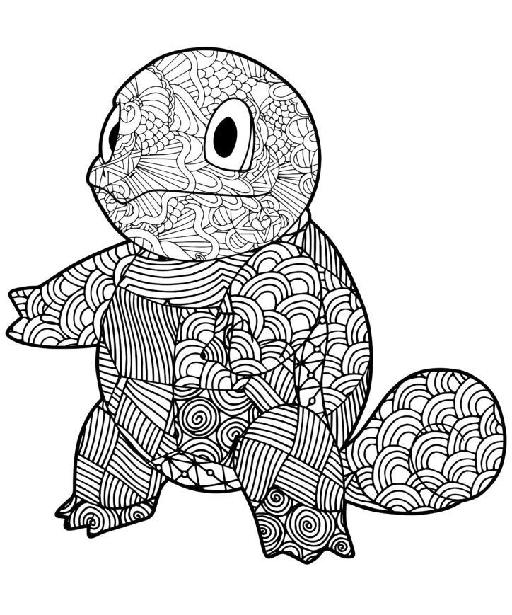 Squirtle Squad Coloring Page