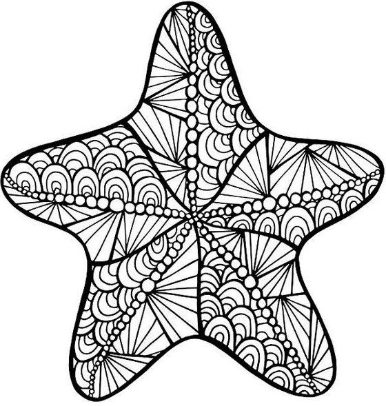 Starfish Coloring Sheet