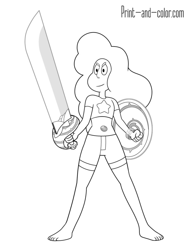 Steven Universe Pearl Coloring Pages