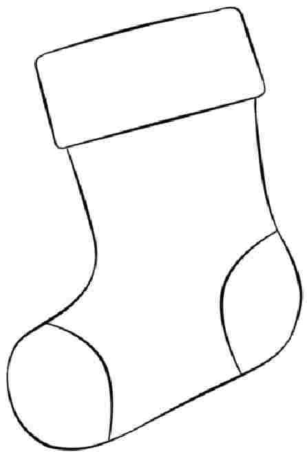 Stocking Christmas Coloring Pages