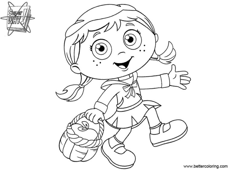 Super Why Coloring Page