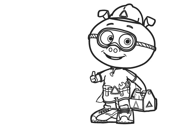 Superwhy Coloring Page