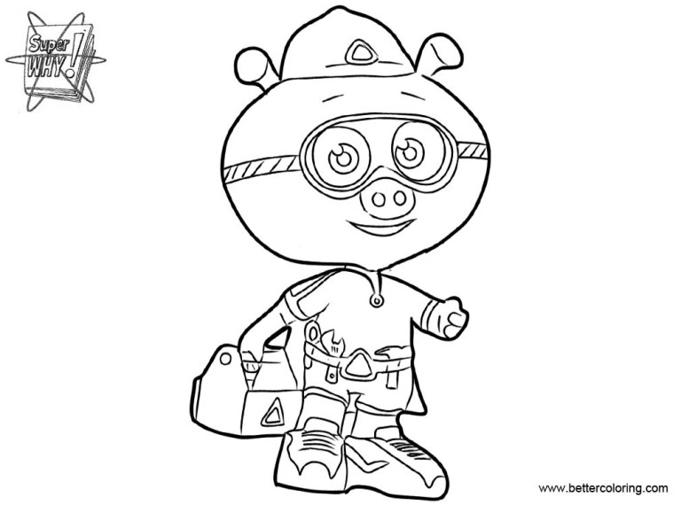 Superwhy Coloring
