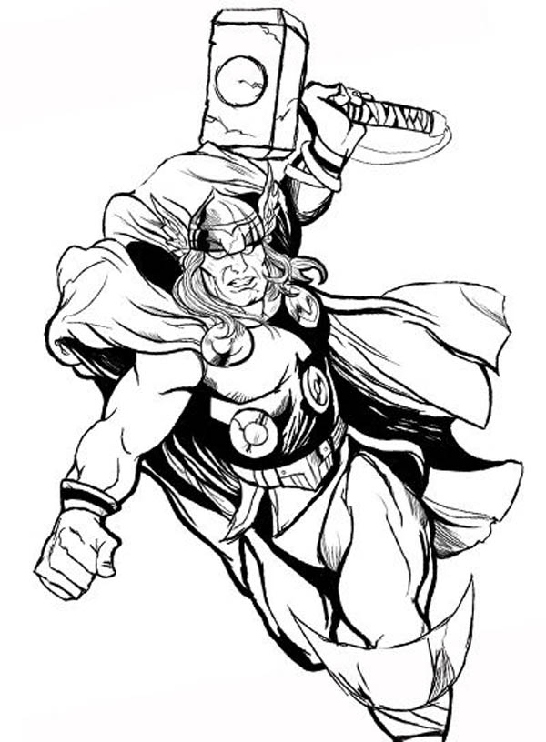 Thor Coloring Book