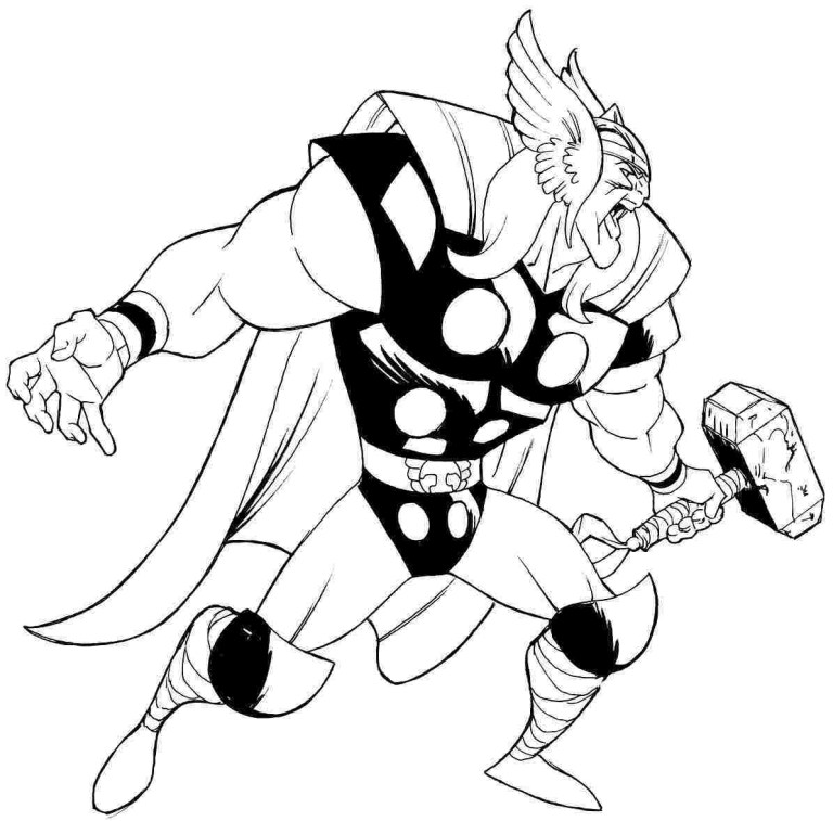 Thor Pictures To Colour