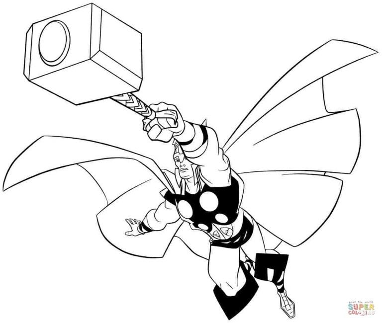 thor ragnarok for coloring Online