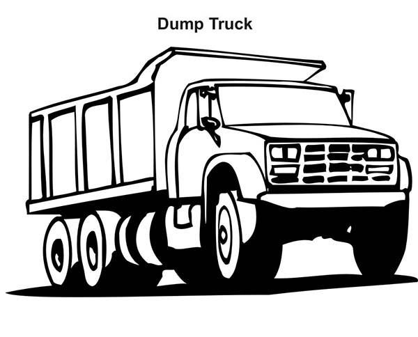 Tonka Truck Coloring Page