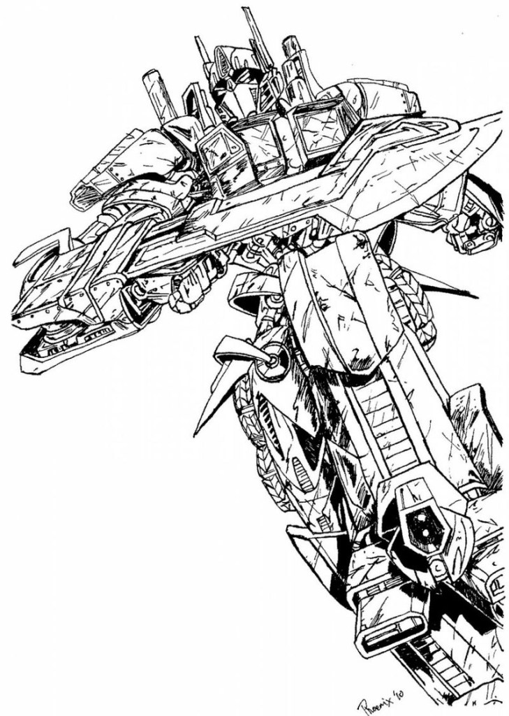 Transformer Colouring Page