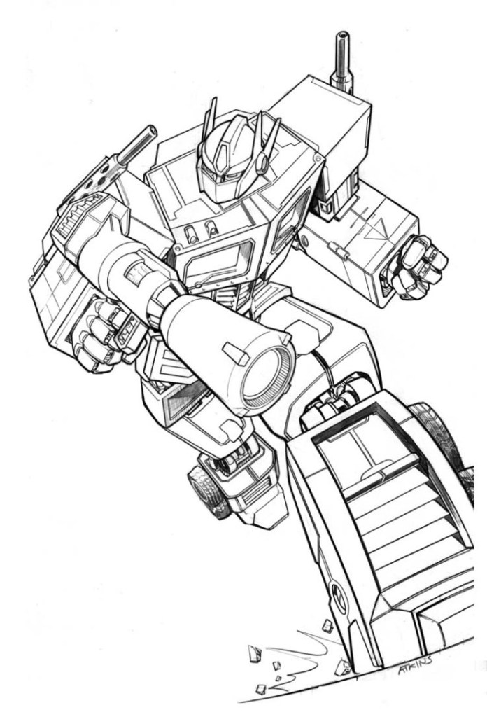Transformers Coloring Sheets