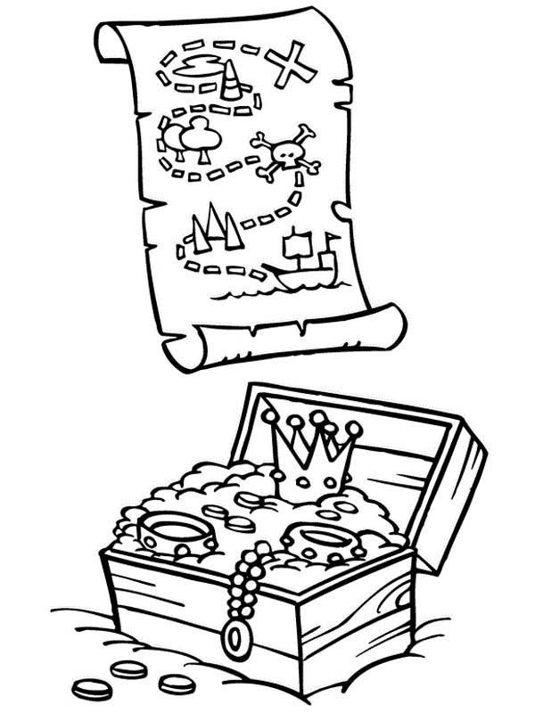 treasure map coloring pages for kids