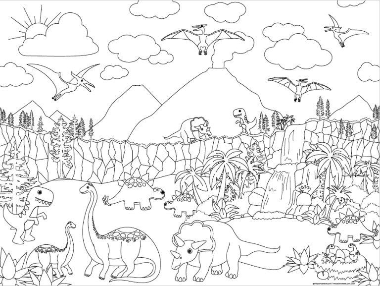triceratops Coloring Pages For Kids Online