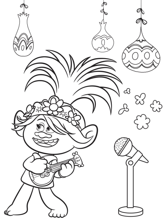 Trolls Barb Coloring Page
