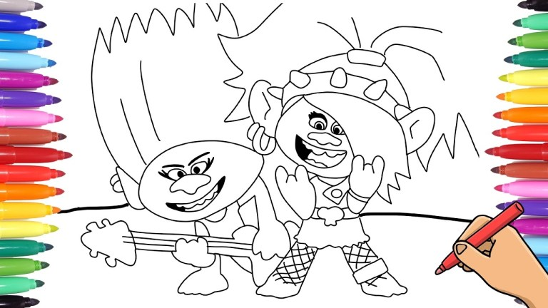 Trolls World Tour Coloring Pages Barb