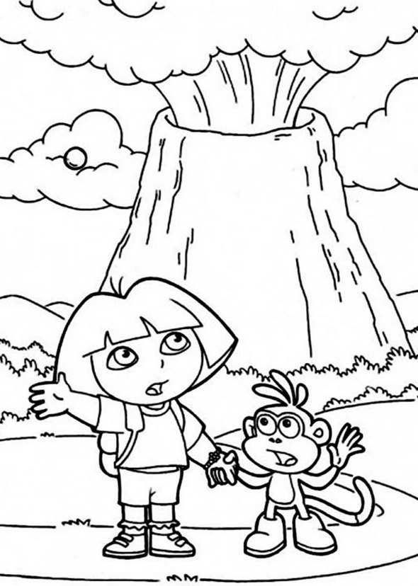 Volcano Coloring Pages Sharing Wallpaper