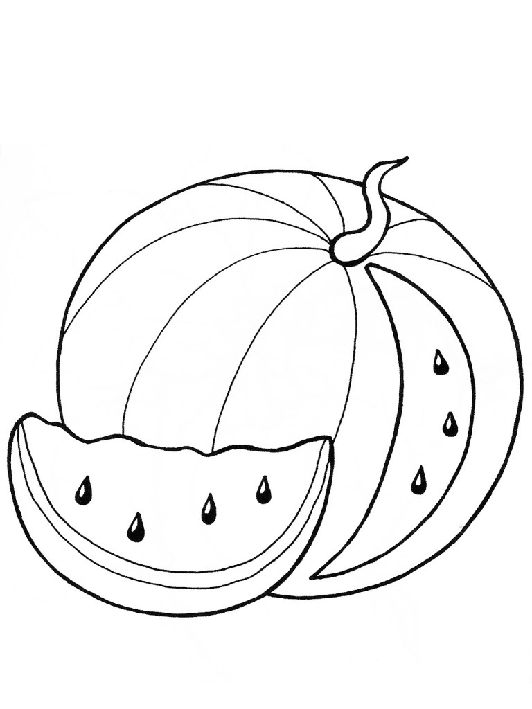 Watermelon Colouring Pages