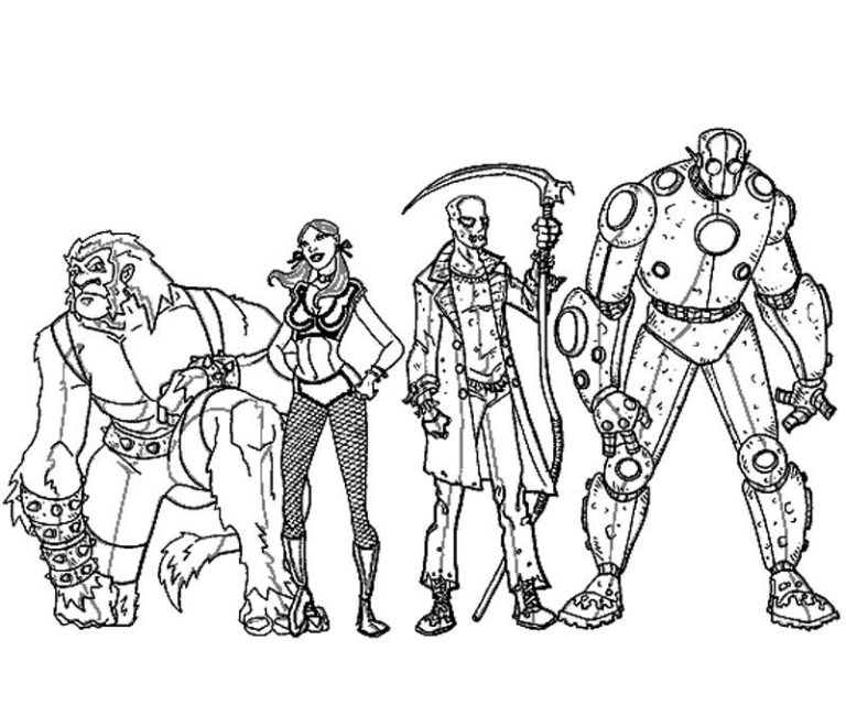 Wizard Of Oz Characters Coloring Pages