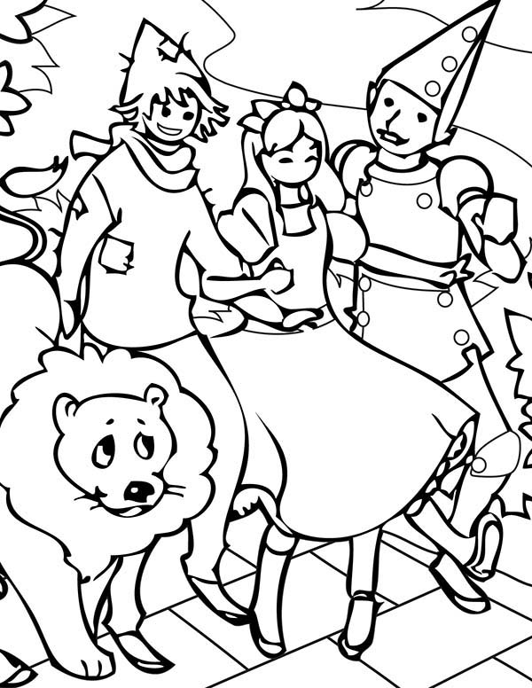 Wizard Of Oz Coloring