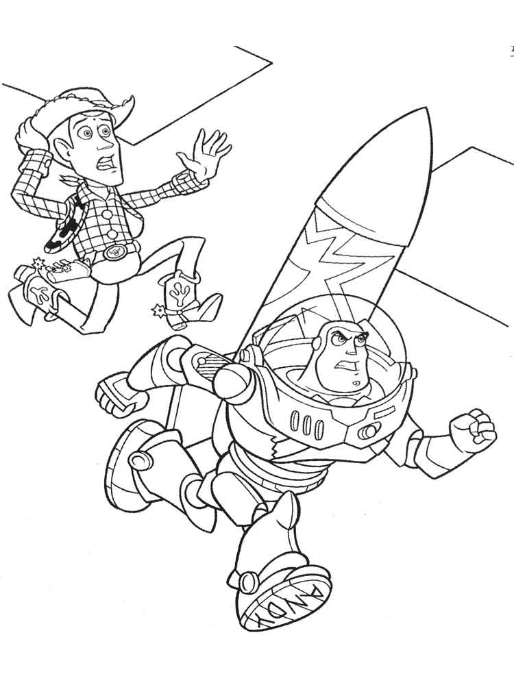 Woody Coloring Page