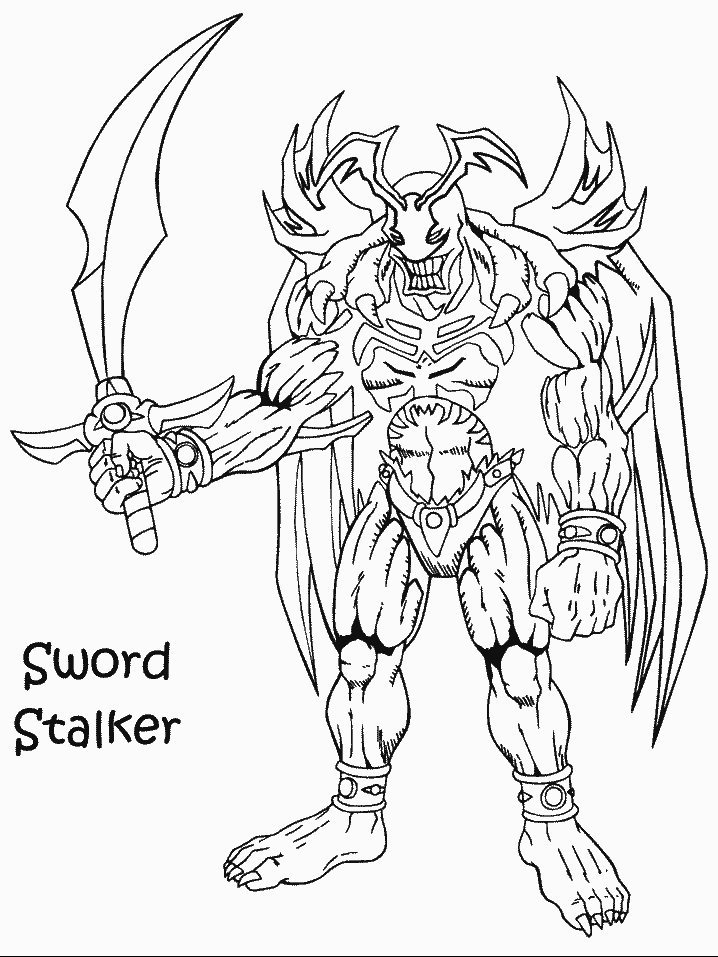 Yu Gi Oh Cards Coloring Pages
