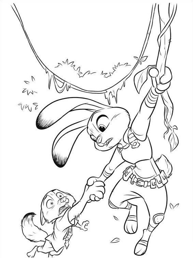 Zootopia Coloring Page